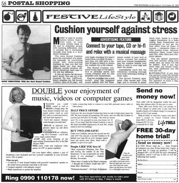Aura-Sound-Cushion-Daily-Express-ad