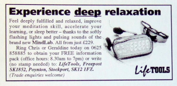 Early-LifeTools-MindLab-advert